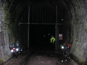 Lights essential for riding through Tunnel!
