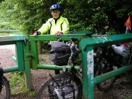 Everything off the bikes to lift over the gate - is this REALLY a cycle path?