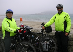 Back in waterproofs - St Michael's Mount in the mist!