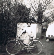 My first 2-Wheeler (with my mother!)