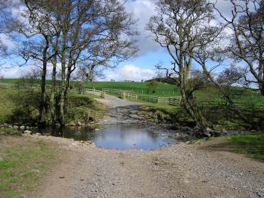 NCN 68 arrives at a ford...