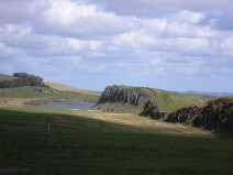 First glimpse of Hadrian's Wall