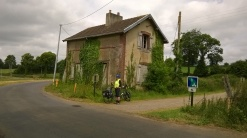 Our route crossed the Mortain - Vire Voie-Verte just outside Sourdeval